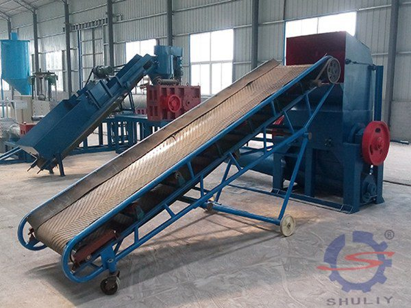 Belt conveying sorting table machine