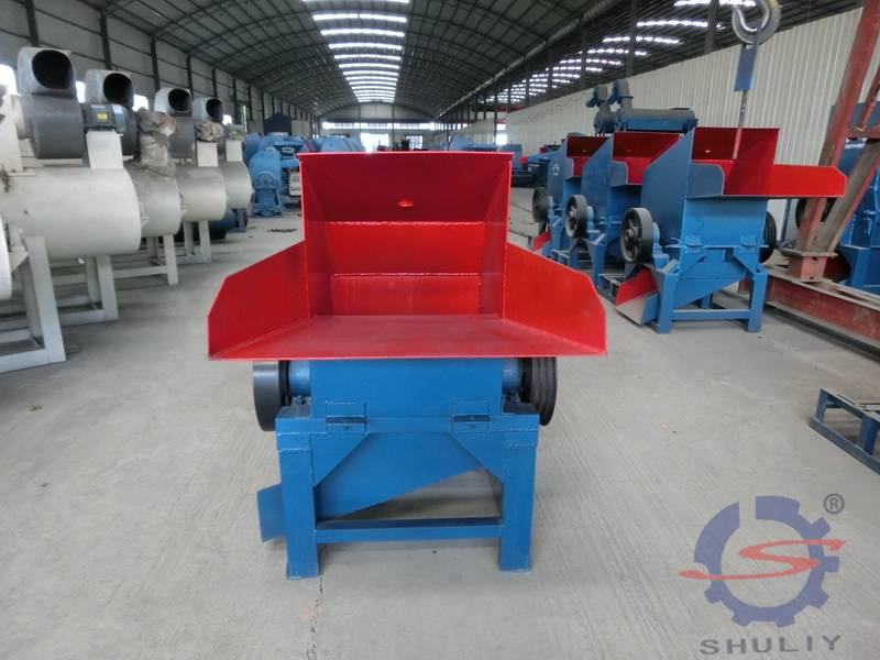 Waste plastic PET bottles crusher