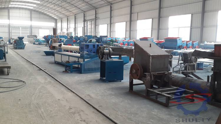 PP PE flake products recycling and pelletizing machine