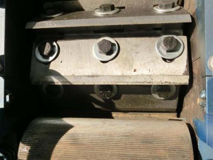 steel roller of the granulator cutter