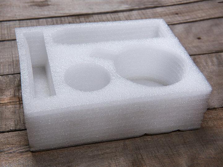 the shockproof plastic foam package