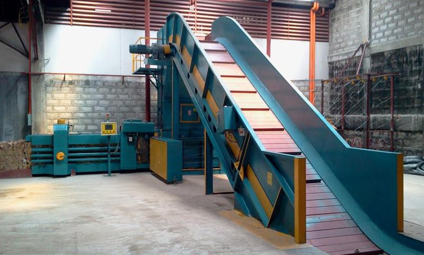 horizontal plastic baler machine for sale