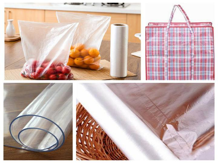 different kinds of plastic film