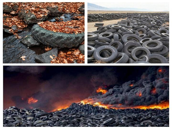 Waste rubber tires are polluting the enviroment