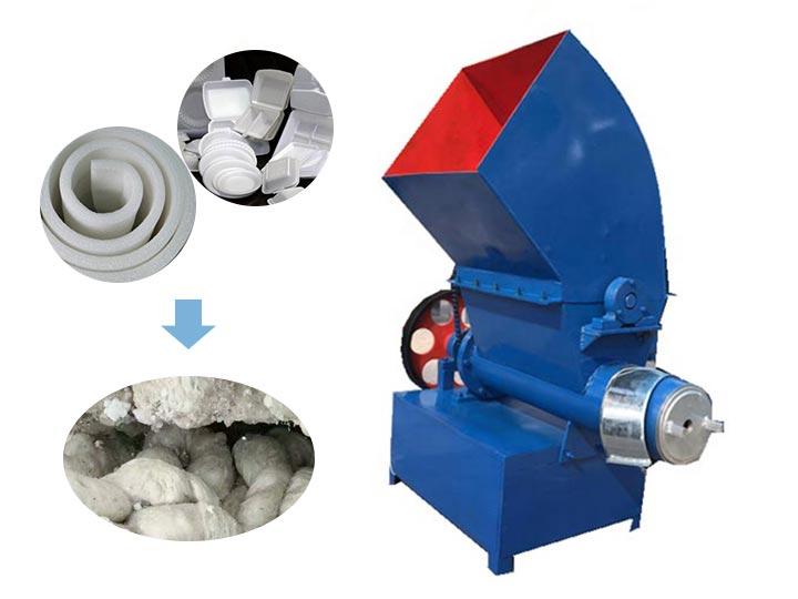 foam melting machine